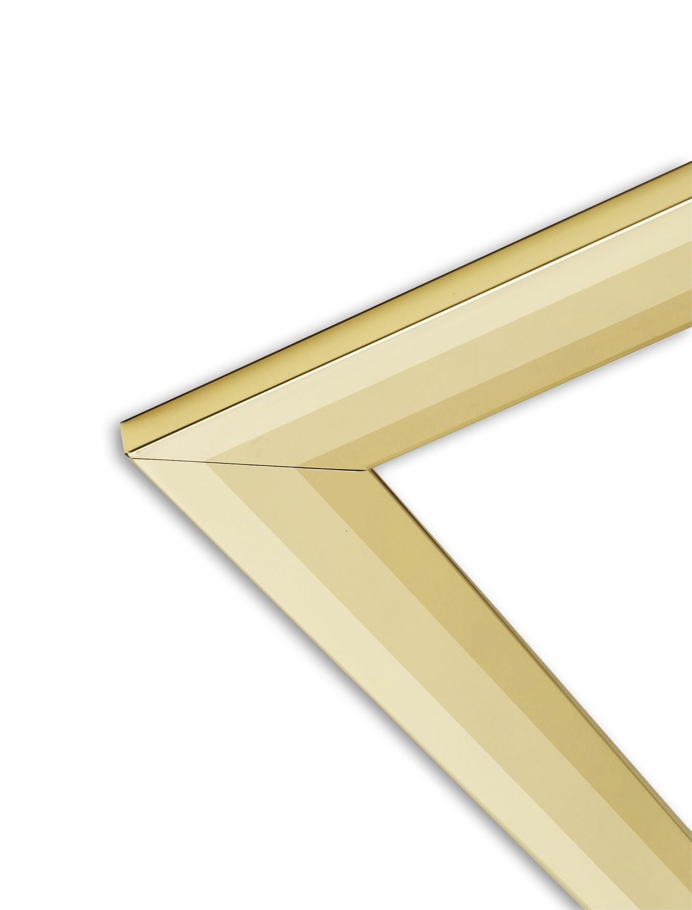 "18"" three-piece brass frame"