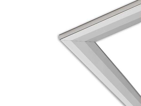 "18"" three-piece silver frame"